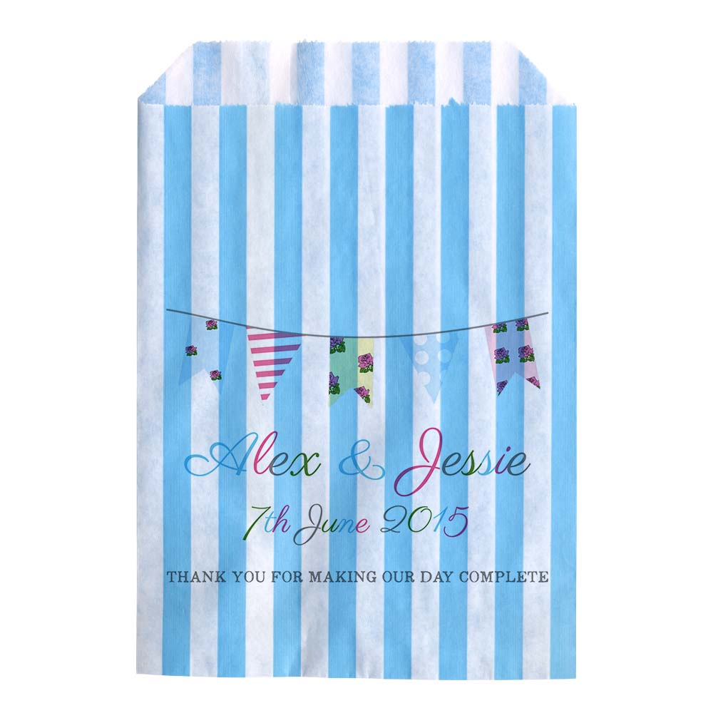 Personalised-Wedding-Sweet-Bags-SHABBY-CHIC-VINTAGE-BUNTING-Candy-Cart-Wedding-F
