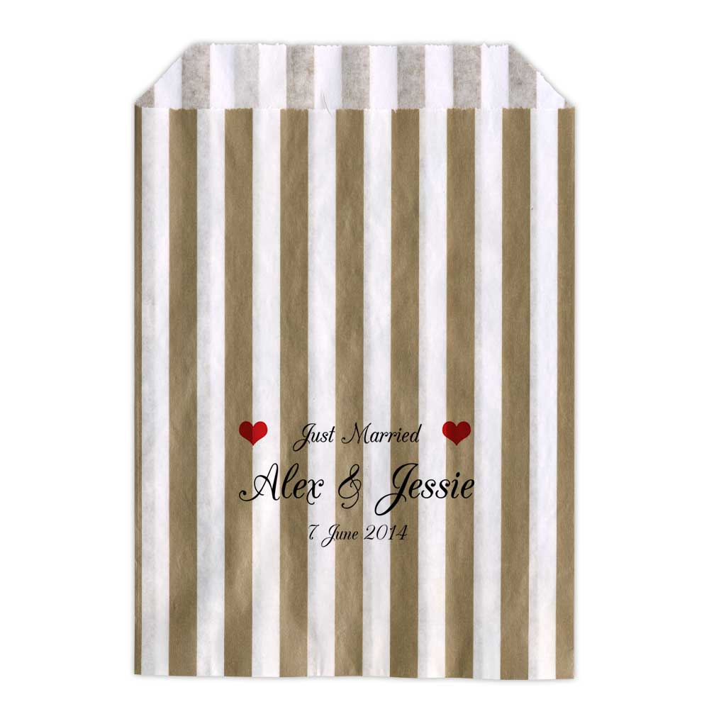 Personalised-Wedding-Sweet-Bags-JUST-MARRIED-HEARTS-Candy-Cart-Wedding-Favours-C