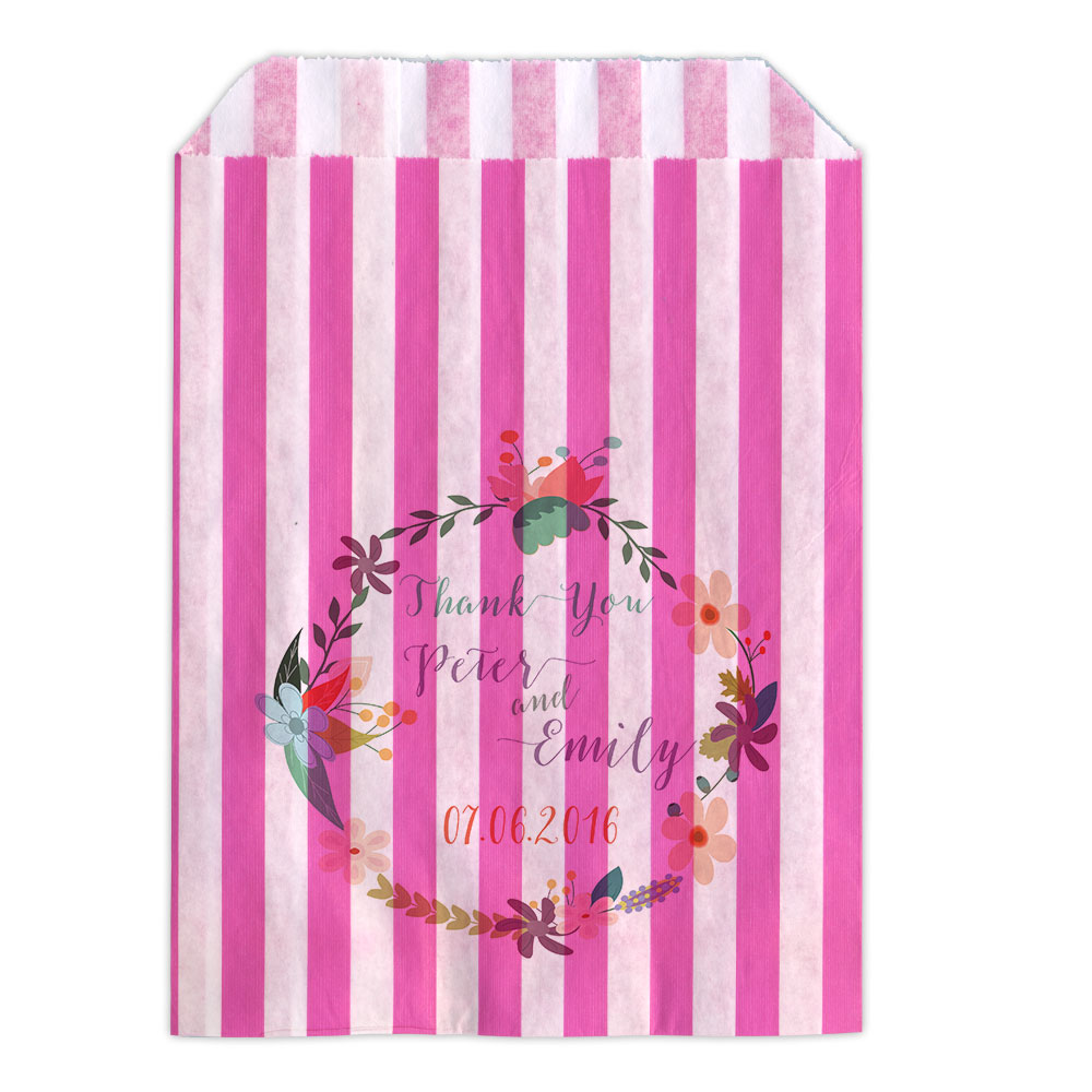 Personalised-Wedding-Sweet-Bags-FLORAL-GARLAND-Candy-Cart-Wedding-Favours-Confet