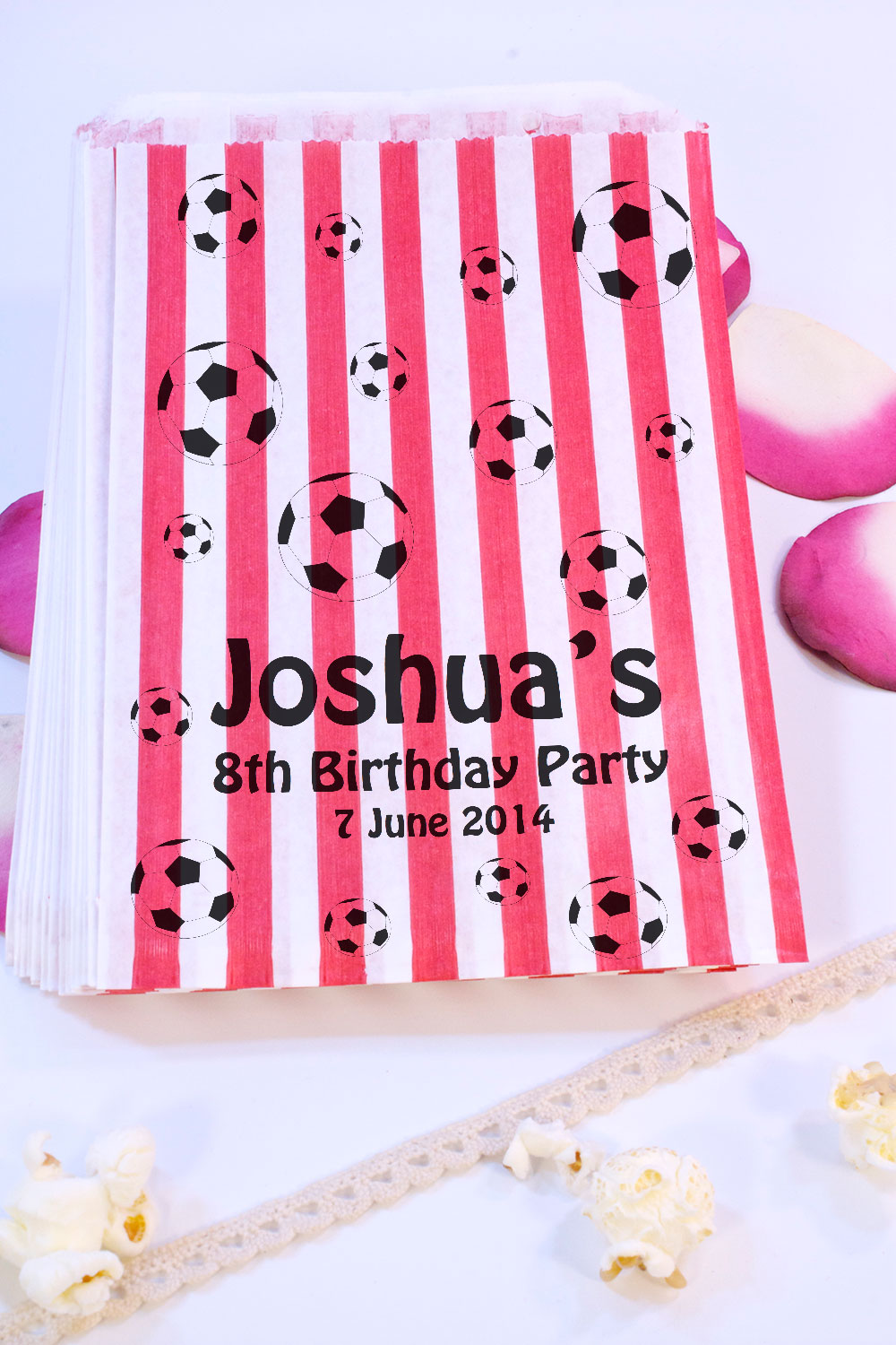 Personalised Birthday Sweet Bags FOOTBALL BIRTHDAY Candy Cart ...