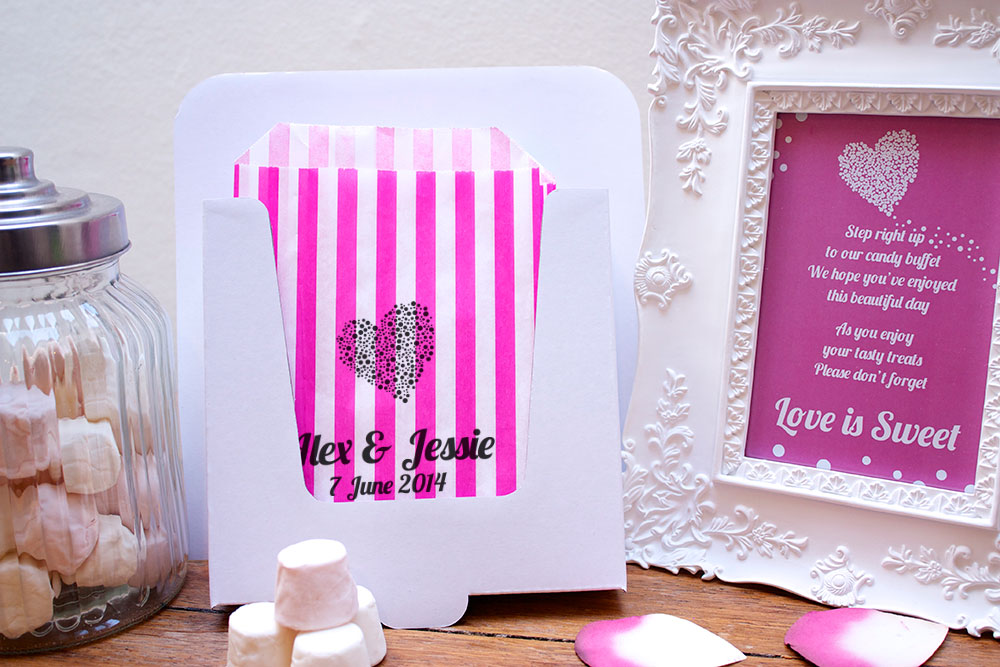Personalised-Wedding-Sweet-Bags-DOT-HEART-Candy-Cart-Wedding-Favours-Confetti-En