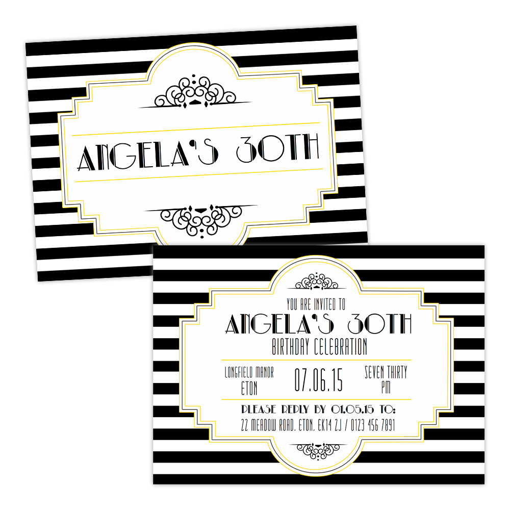 1920s Birthday Party Invitations New where to get holiday cards ...